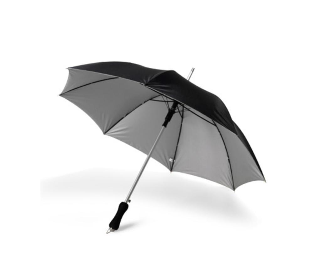 Regenschirm Schwarz/Silber